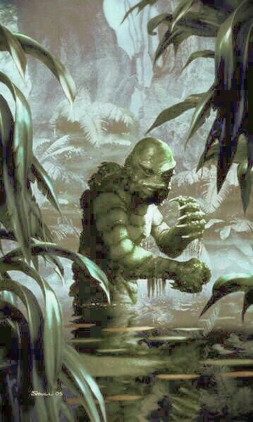 The Creature from the Black Lagoon...