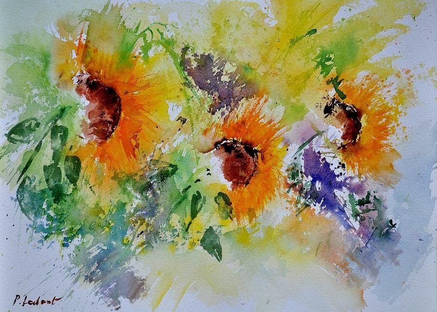 Картинки по запросу watercolor sunflowers