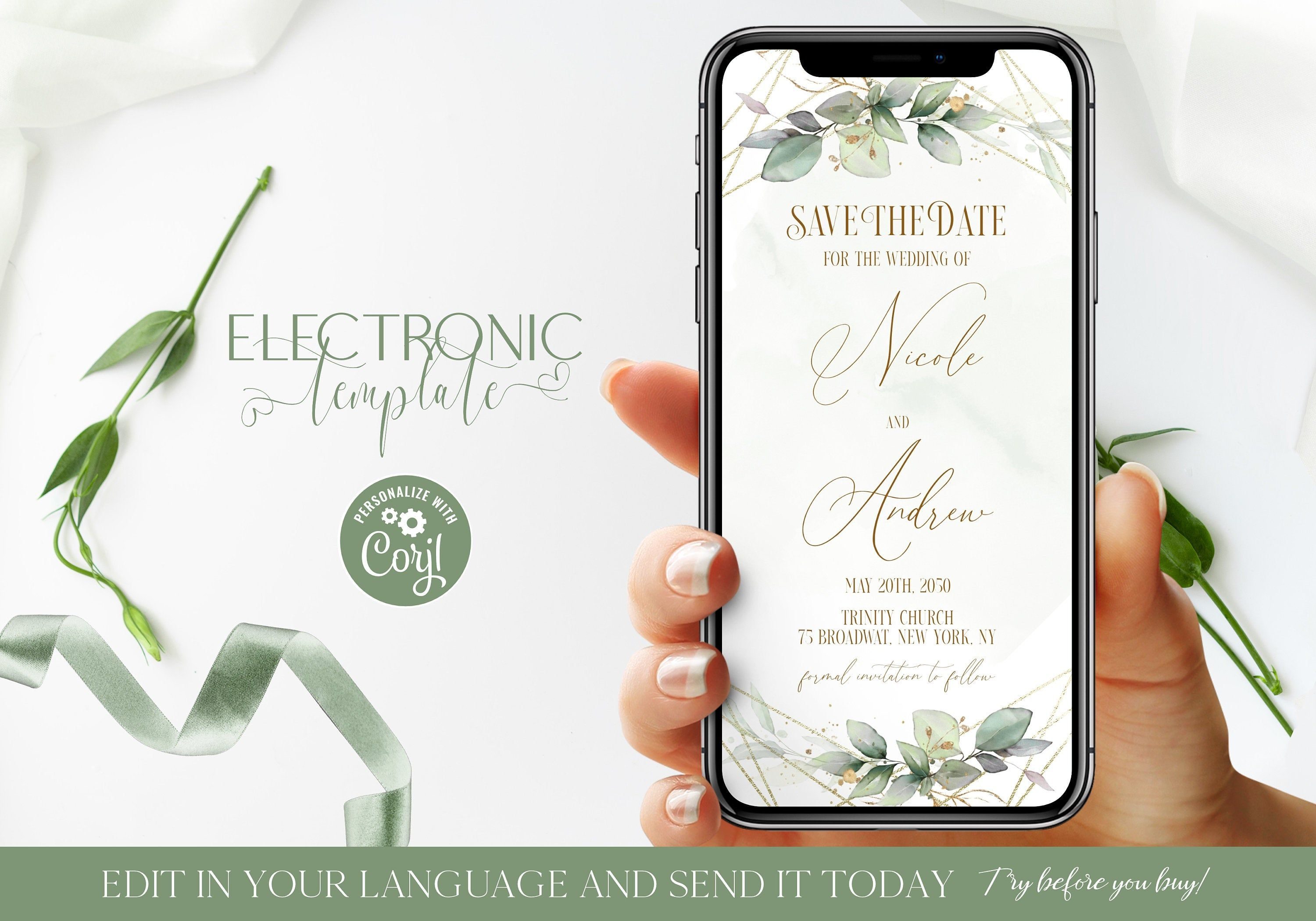 Electronic Save the Date, Save our Date Evite, Electronic