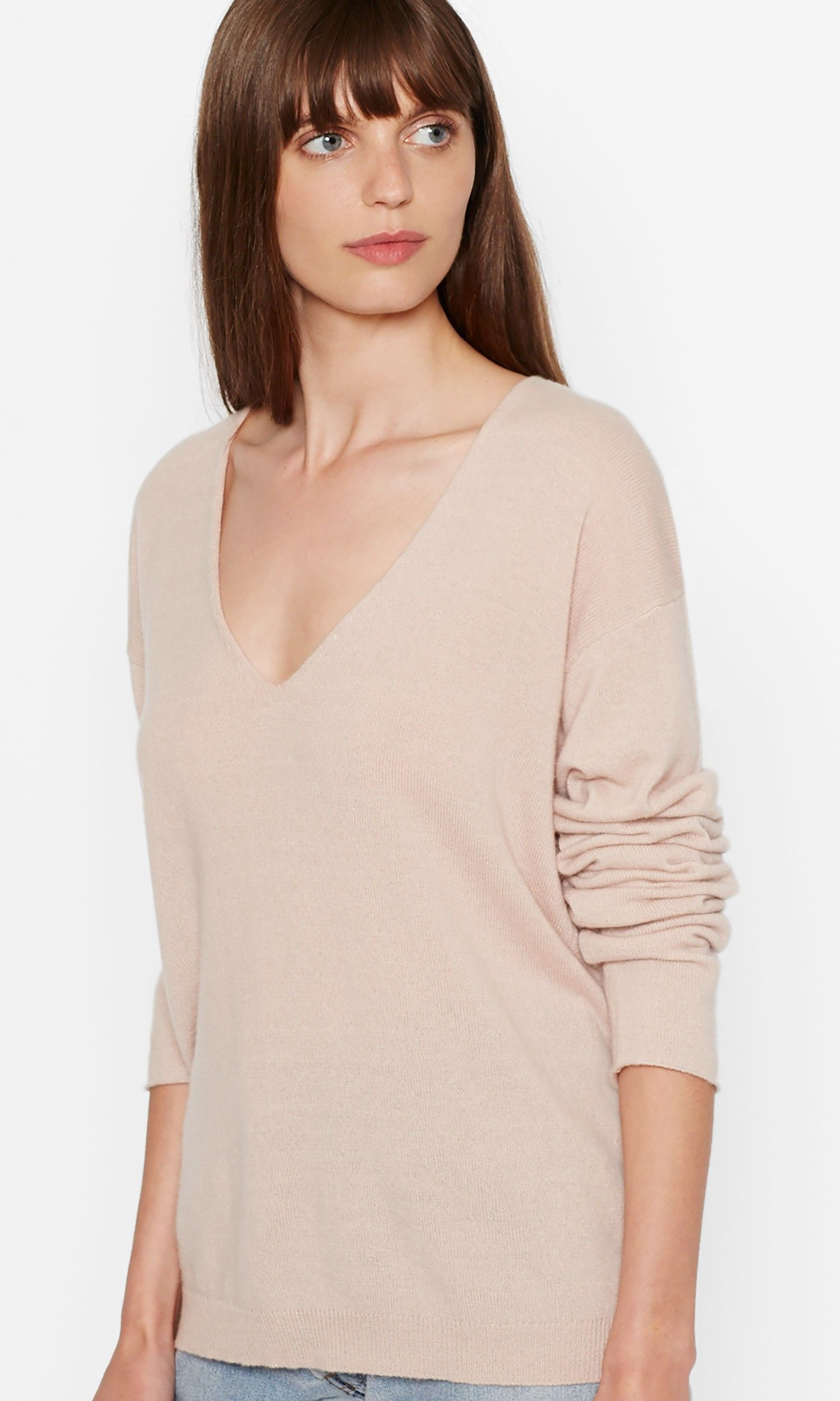 Elaine v-neck cashmere sweater | Dress tops, Sweater skirt and ...