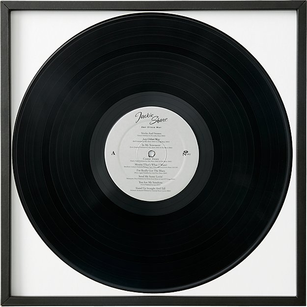 Gallery Brass Record Frame With White Mat Cb2 Framed Records Records Frame