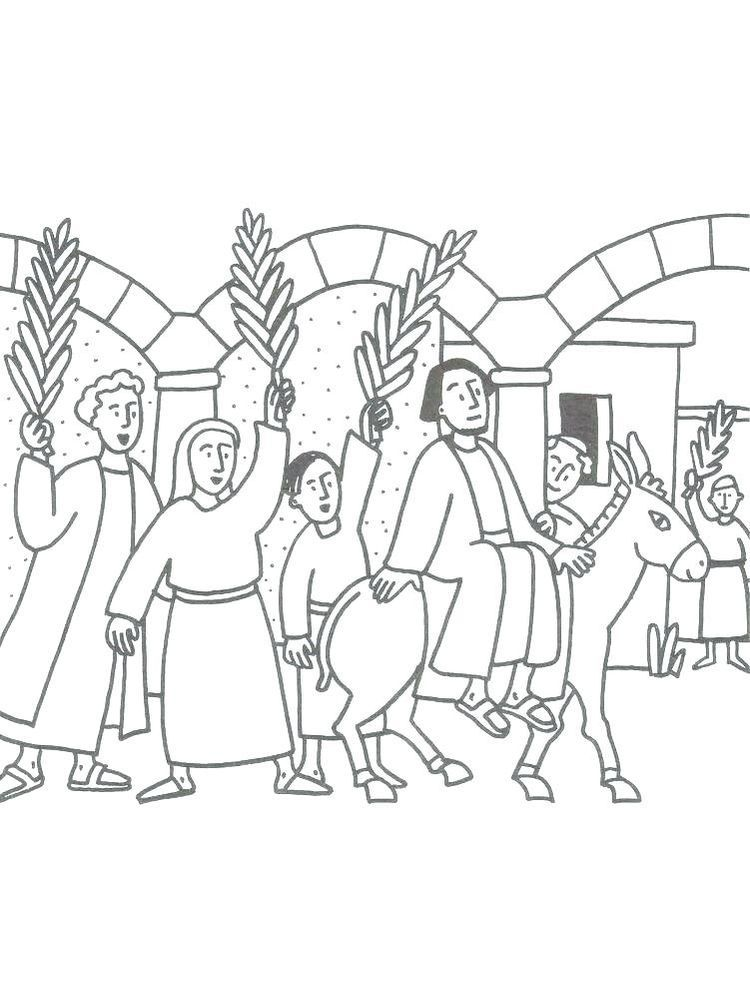 Catholic Palm Sunday Coloring Pages One Week Before Easter Catholics Usually Celebrate Palm Sunday Usually I Catholic Palm Sunday Palm Sunday Coloring Pages