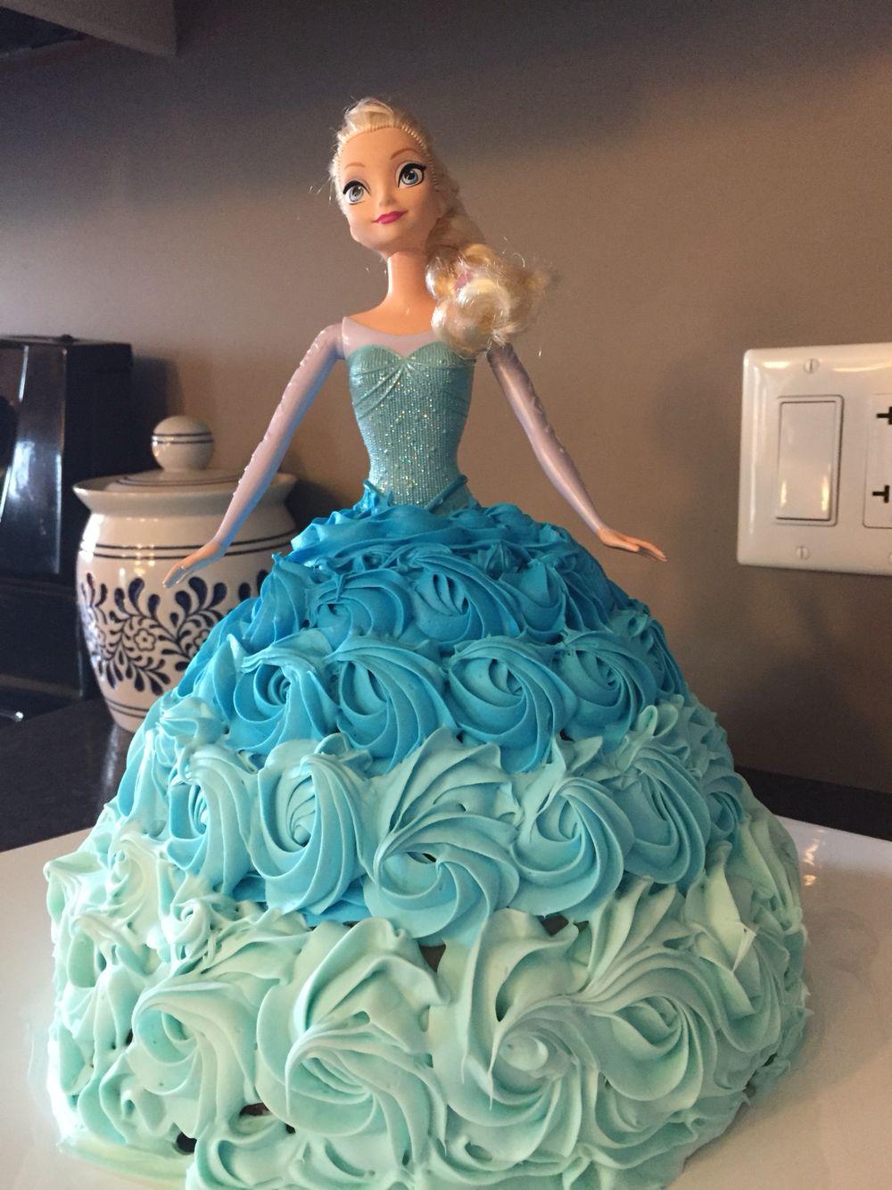 Queen Elsa Cake Elsa cakes, Doll cake, Frozen cake