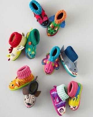 061a8853f425 Kids' Boiled Wool Slipper Boots - Garnet Hill Kids | Cozy Sleepwear ...