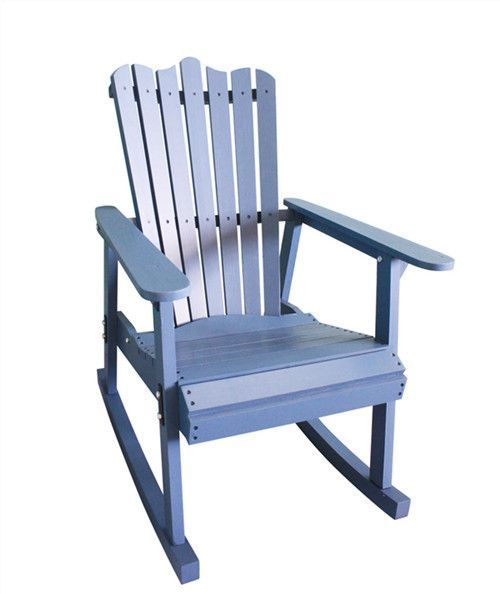 Outdoor Furniture Garden Rocking Chair Wood 4 Colors