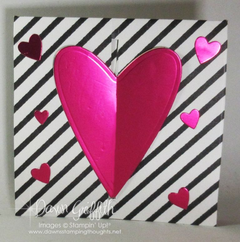 Gate Fold Heart Card Video Dawn S Stamping Thoughts Heart