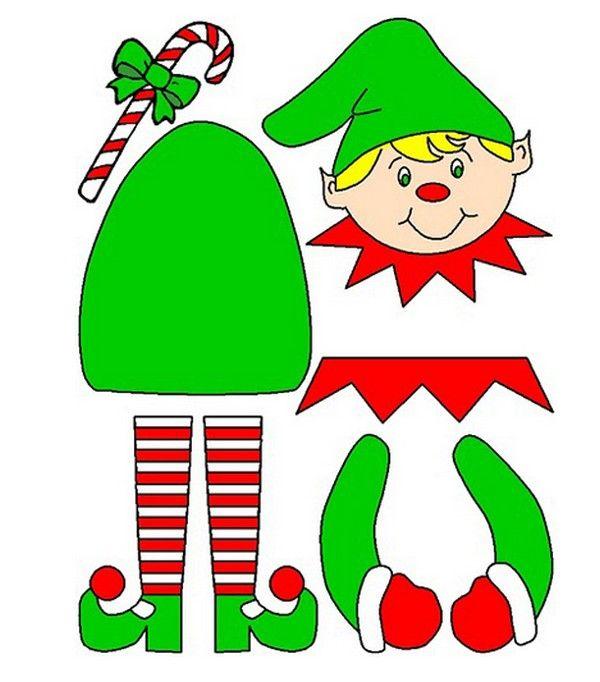 Molde de duende de Navidad para imprimir   Manualidades Fáciles ...