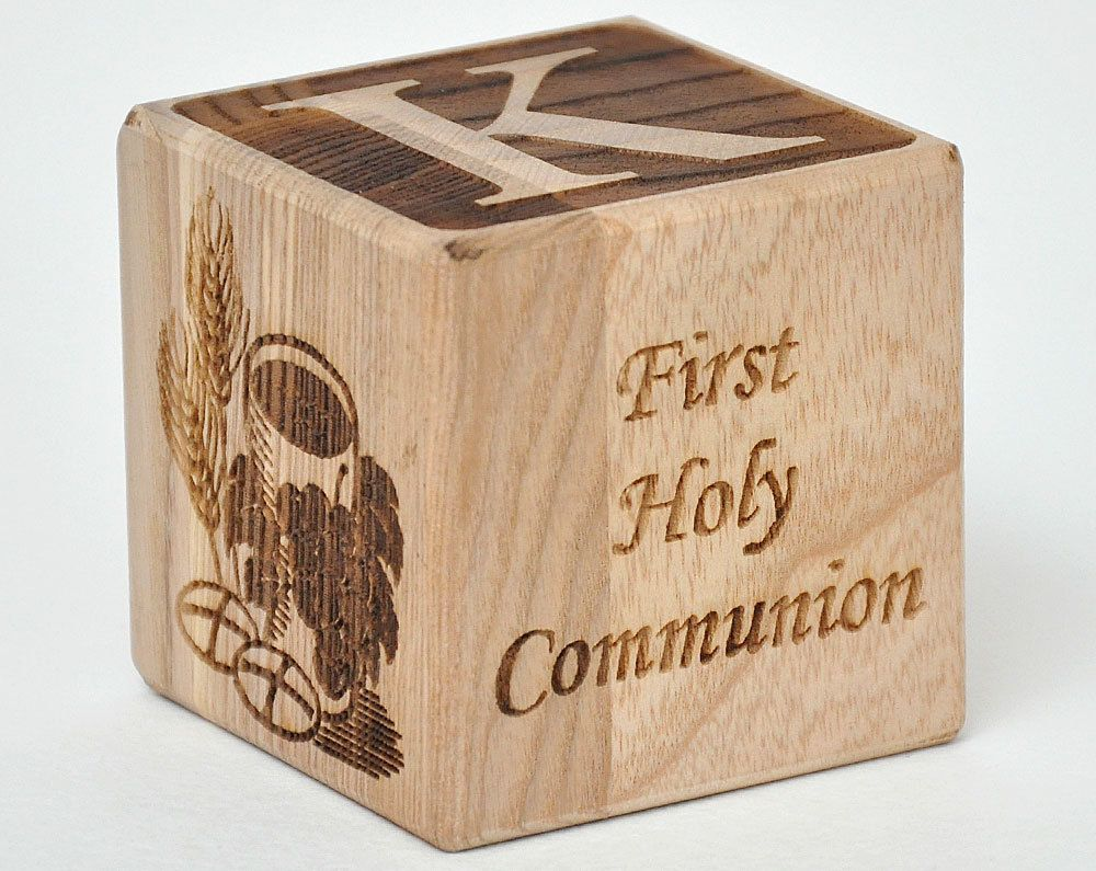 First Holy Communion Personalized Wood Block First Communion Gift ...