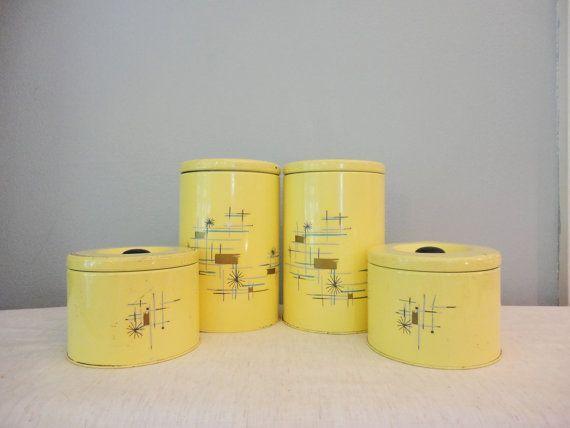 Image result for vintage kitchen canisters