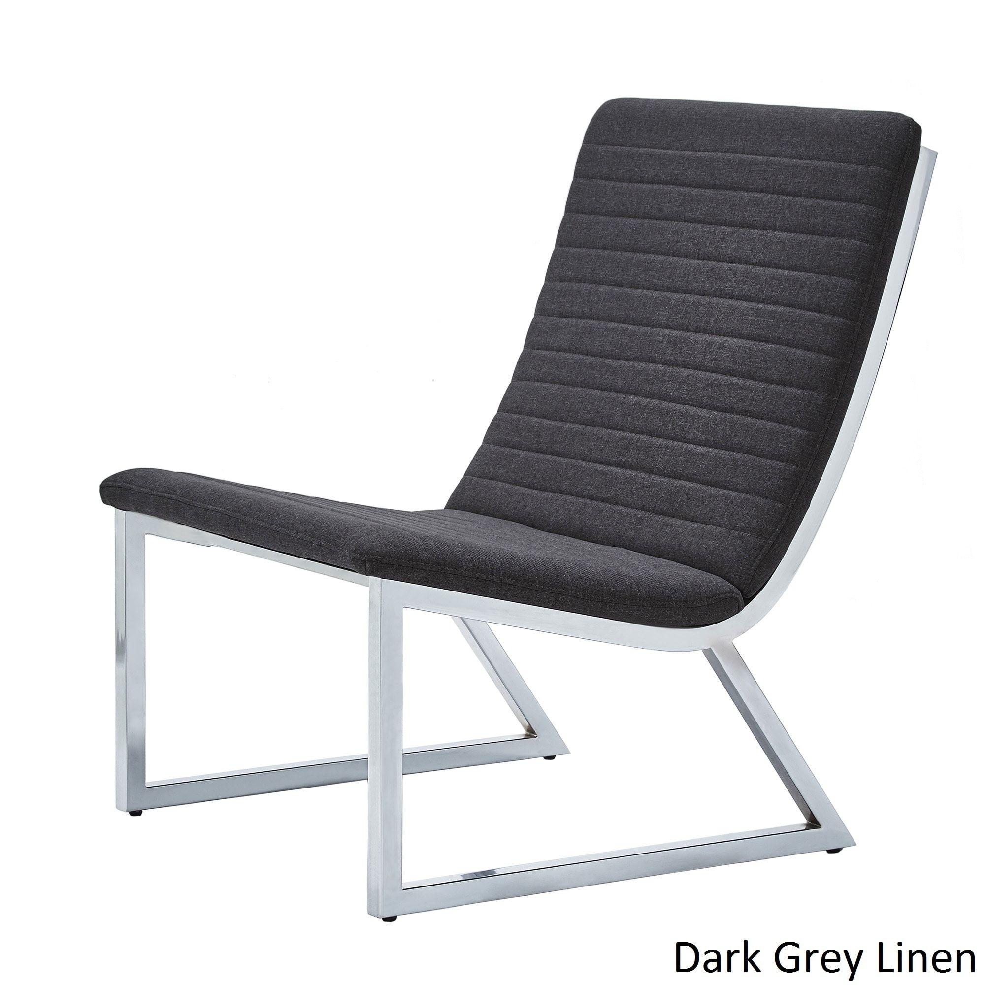 Stupendous Ululani Grey Linen Chrome Metal Leg Accent Chair Inspire Q Cjindustries Chair Design For Home Cjindustriesco