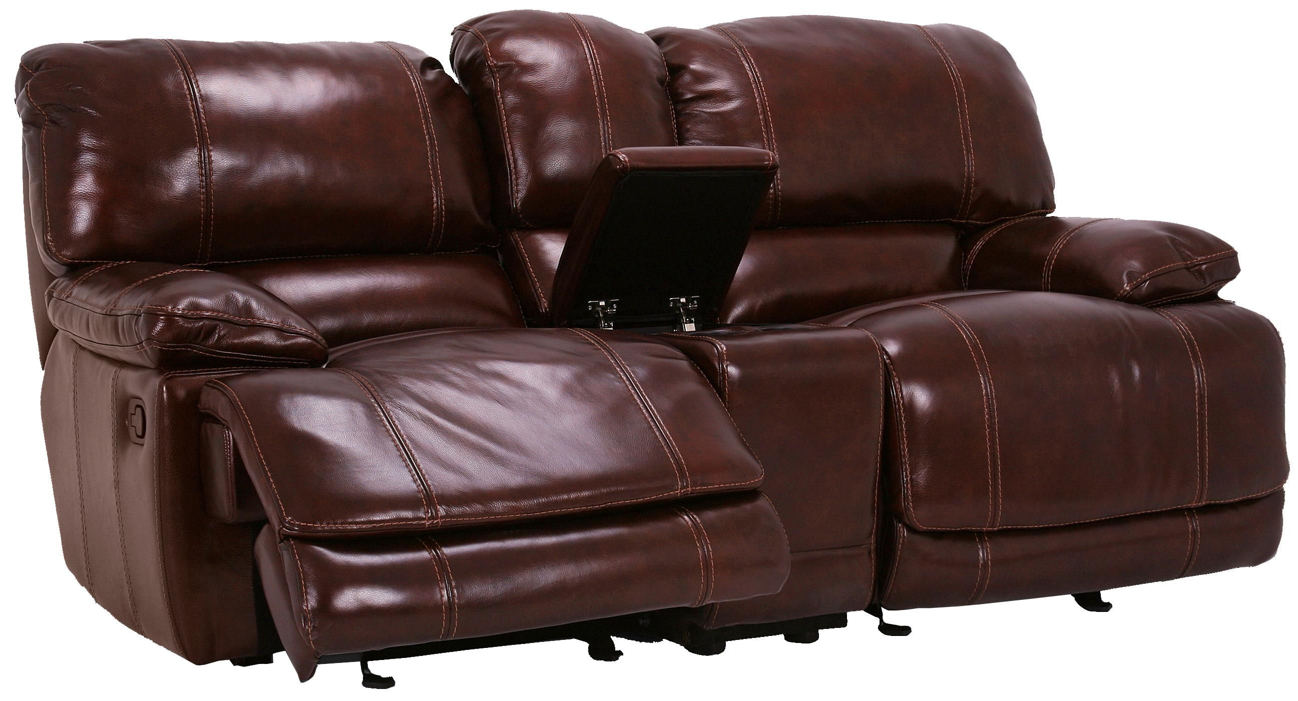 Flexsteel Furniture: Latitudes Belmont Collection featuring dual gliding reclining loveseat with console, reclining loveseat, reclining sofa and glider recliner. Available with power or manual recline. #interiordesign #leather #sofa