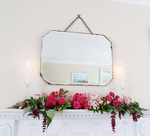 Espejo Vintage espejo Art Deco espejo sin marco espejo antiguo ...
