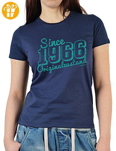 Damen T-Shirt in navyblau mit Geburtstagsmotiv - Since 1966 Originalzustand  - Geschenk zum Geburtstag
