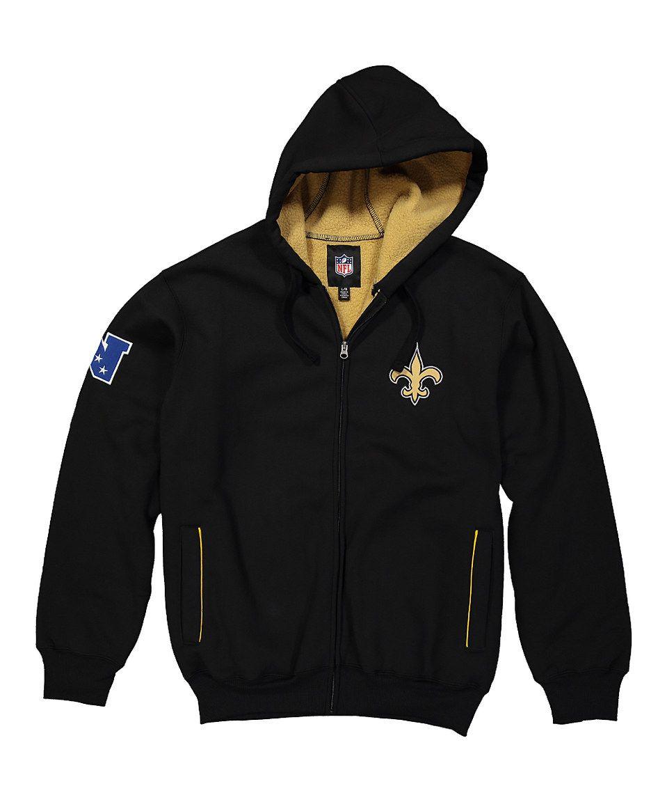 Loving this New Orleans Saints Zip-Up Sherpa Hoodie - Men's Regular on #zulily! #zulilyfinds
