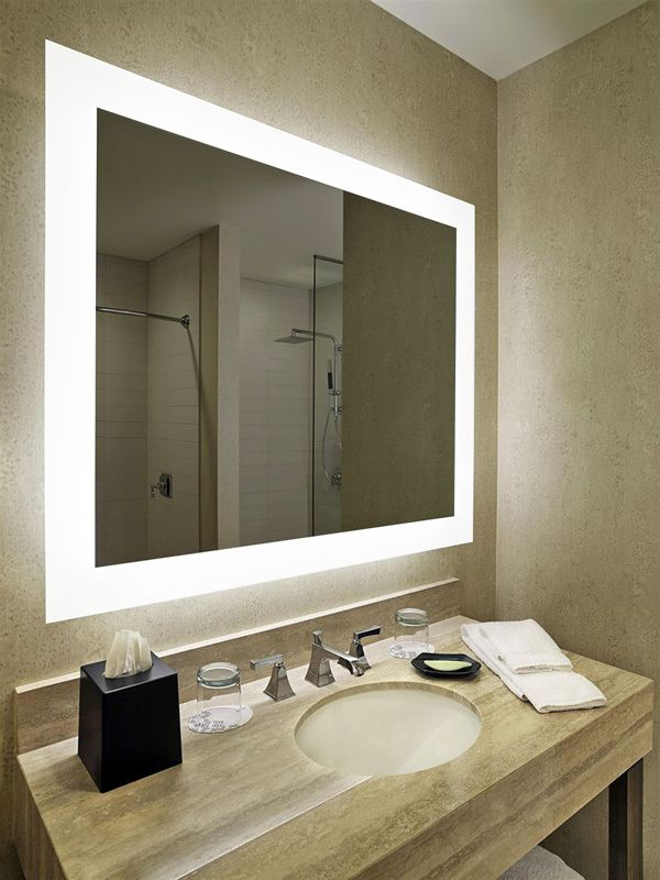 bathroom mirror with lights. Hilton hotel project bathroom mirror with 3000 6000K LED light  View Hotel