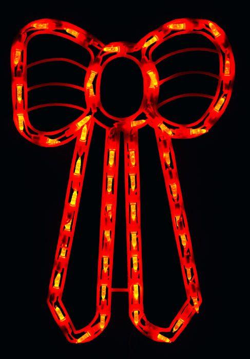 led red bow lighted christmas window decoration at allholidaytreasurescom