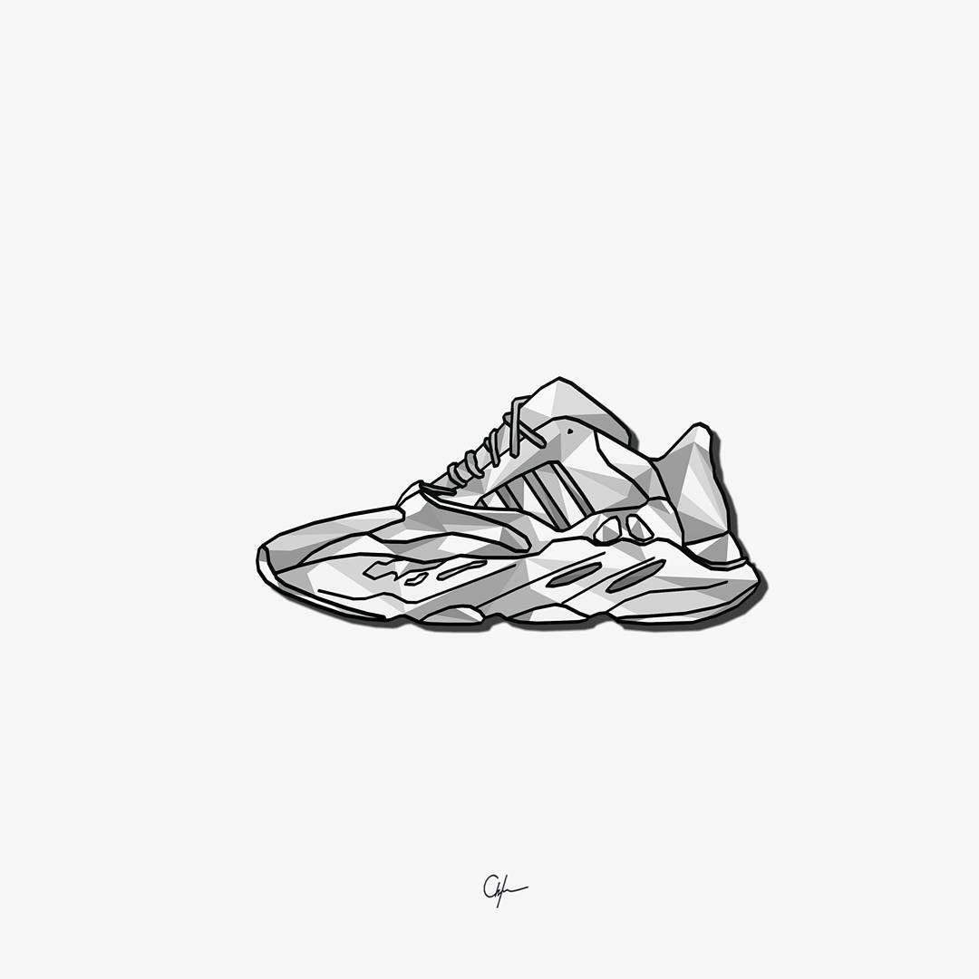 Yeezy Wave Runner 700 Yeezywaverunner Yeezy700 Yeezyrunner Yeezywaverunner700 Sneaker Art Sneakers Sneakersar Sneaker Art Sneakers Illustration Art