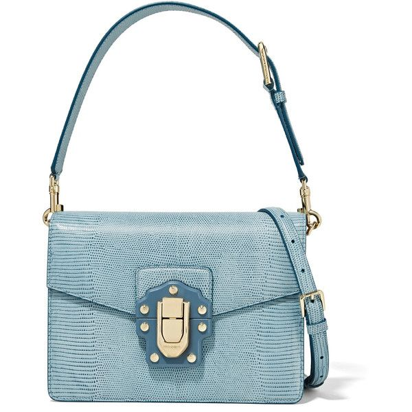 Dolce & Gabbana Lucia Effet Lézard Sac À Bandoulière En Cuir - Bleu Ciel Footlocker Jeu Finishline Coût Acheter Le Meilleur Footaction En Ligne FbPBDN