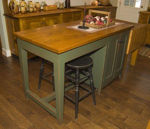 Kitchen Island | decor | Pinterest | Primitive kitchen, Island ...