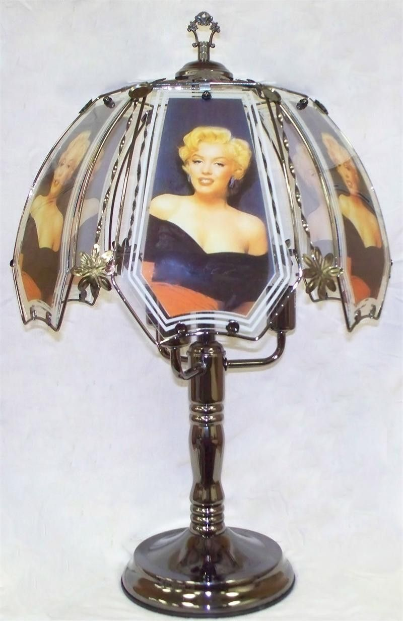 Marilyn monroe black chrome touch lamp with glass shade idea marilyn monroe black chrome touch lamp with glass shade aloadofball Image collections
