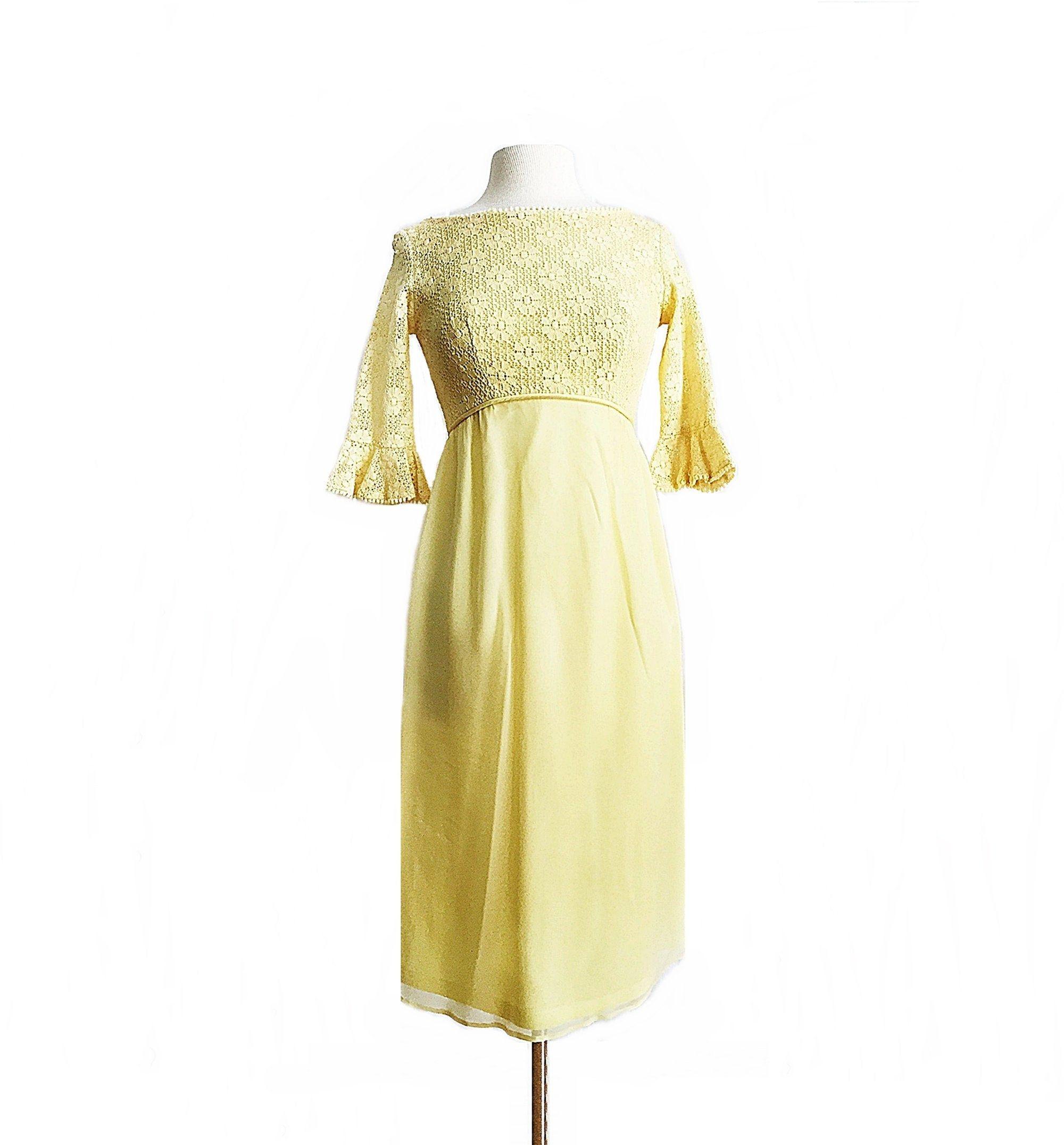 Vintage 60s Yellow Cocktail Dress Floral Lace Pastel Yellow Etsy Cocktail Dress Yellow Floral Cocktail Dress Dress Train [ 2152 x 2000 Pixel ]