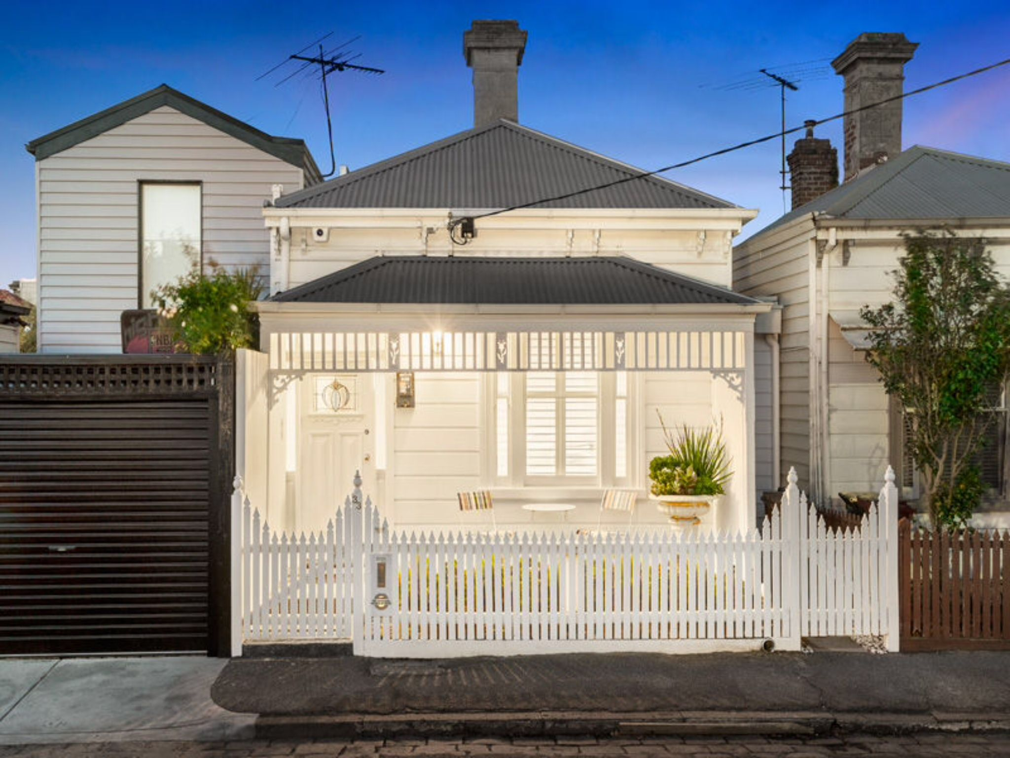 love these colours for an old weatherboard cottage renovation  victorian  classic  white  grey