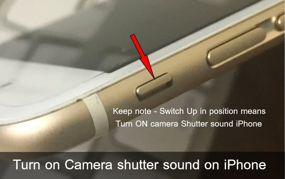 How to turn on camera shutter sound on iphone