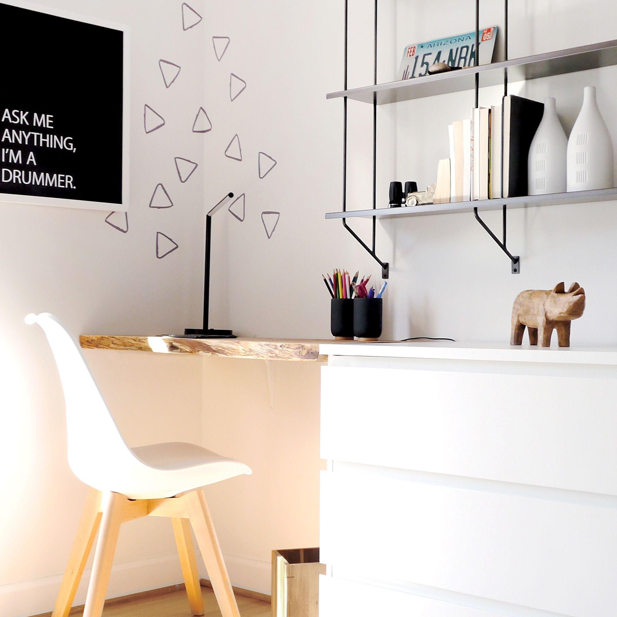 Ikea Hack See How To Build A Minimal Desk With The Malm Ikea Dresser Ikea Hack Kids Room Ikea Malm Desk Ikea Office Furniture