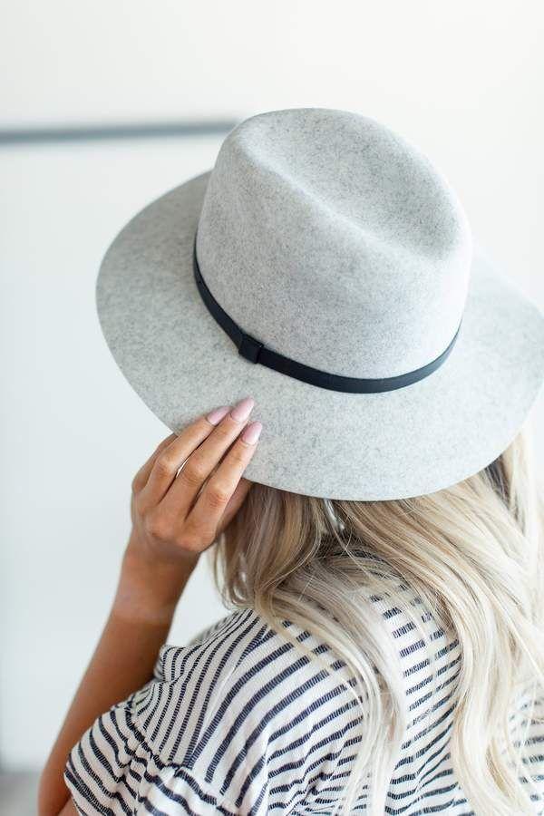 cf7fd6b989fde Hudson Felt Hat - Light Grey in 2019