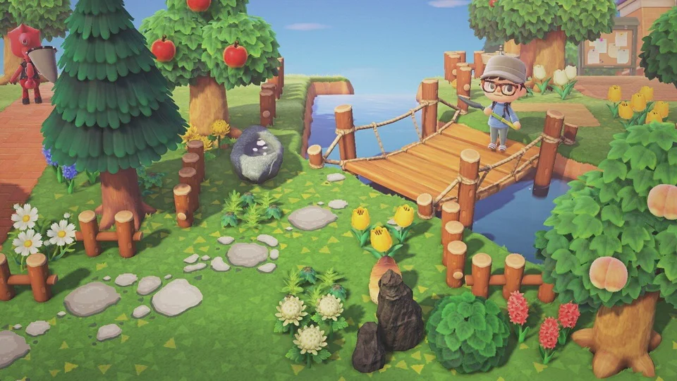 Every Day I Try To Improve A Small Area Of My Island Today I Decorated The Entry To The Small Island In 2020 Animal Crossing Animal Crossing Game New Animal Crossing