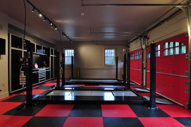 Extreme garage extreme garage makeover from no place for Man cave garage floor ideas