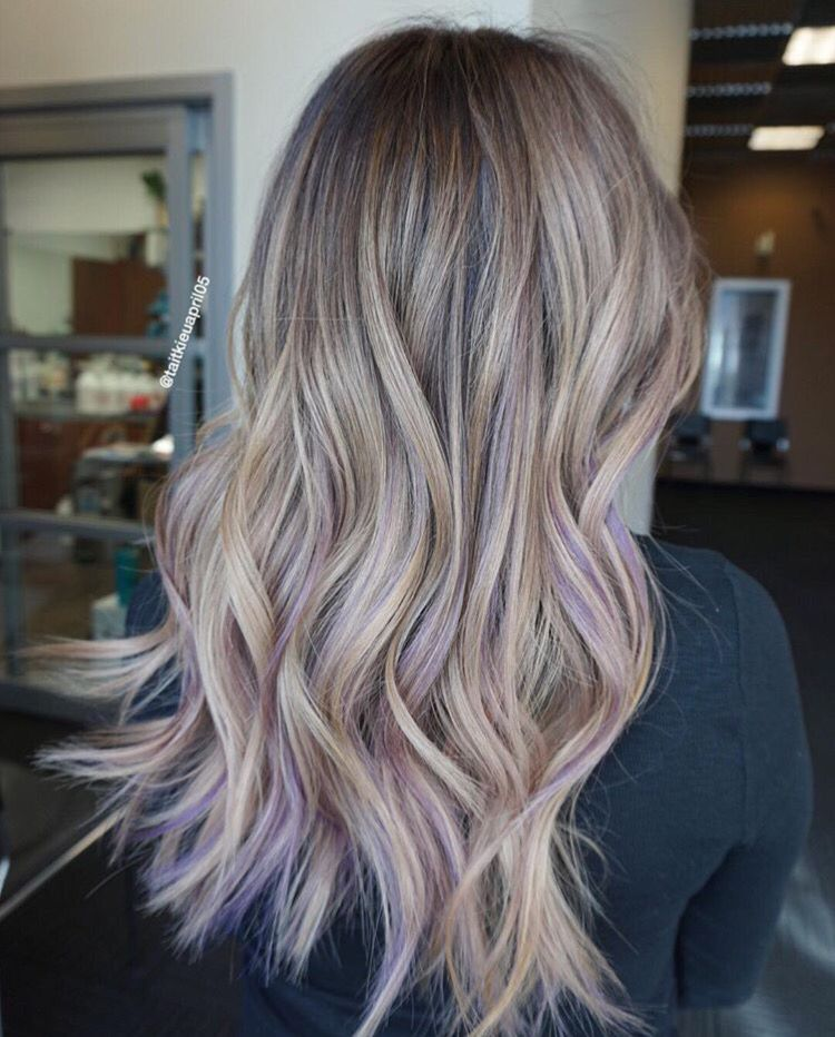 Color With Hints Of Purp Purple Blonde Hair Light Purple Hair Pastel Purple Hair