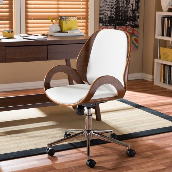 Watson Walnut Modern Office Chair by Baxton Studio Modern