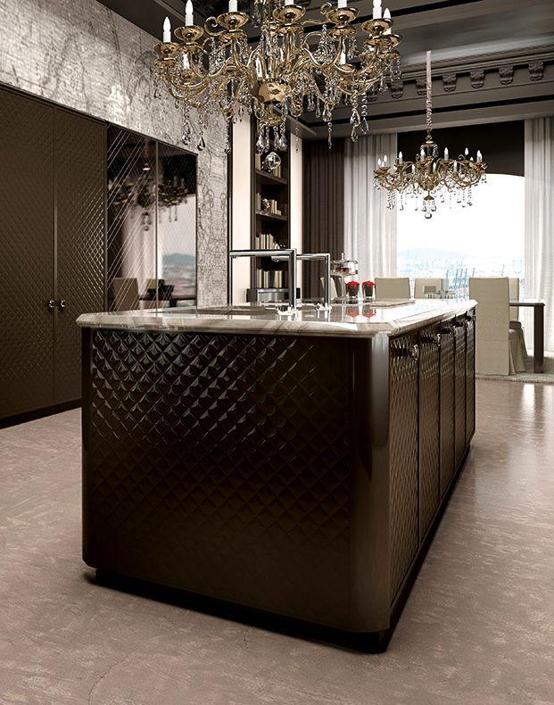 العصرية والفخامة في 10 مطابخ مودرن بتصميمات إيطالية مجلة ديكورات عالم من ديكور المنازل و التصميم الداخلي Interor Design Floor Design Kitchen Design