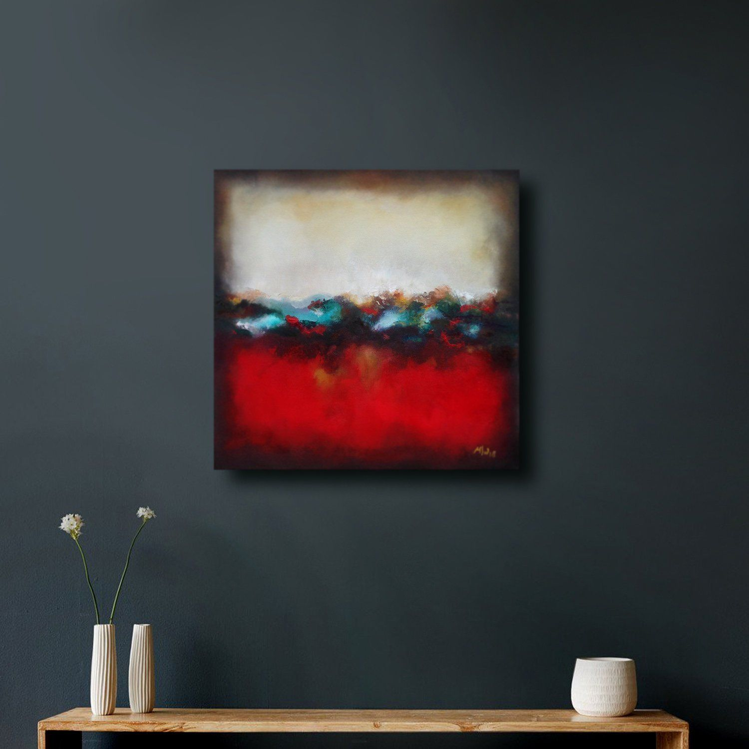 Dreamscape abstract canvas wallart painting unframed ready to hang fineart abstract modern oil paint vivid artwork