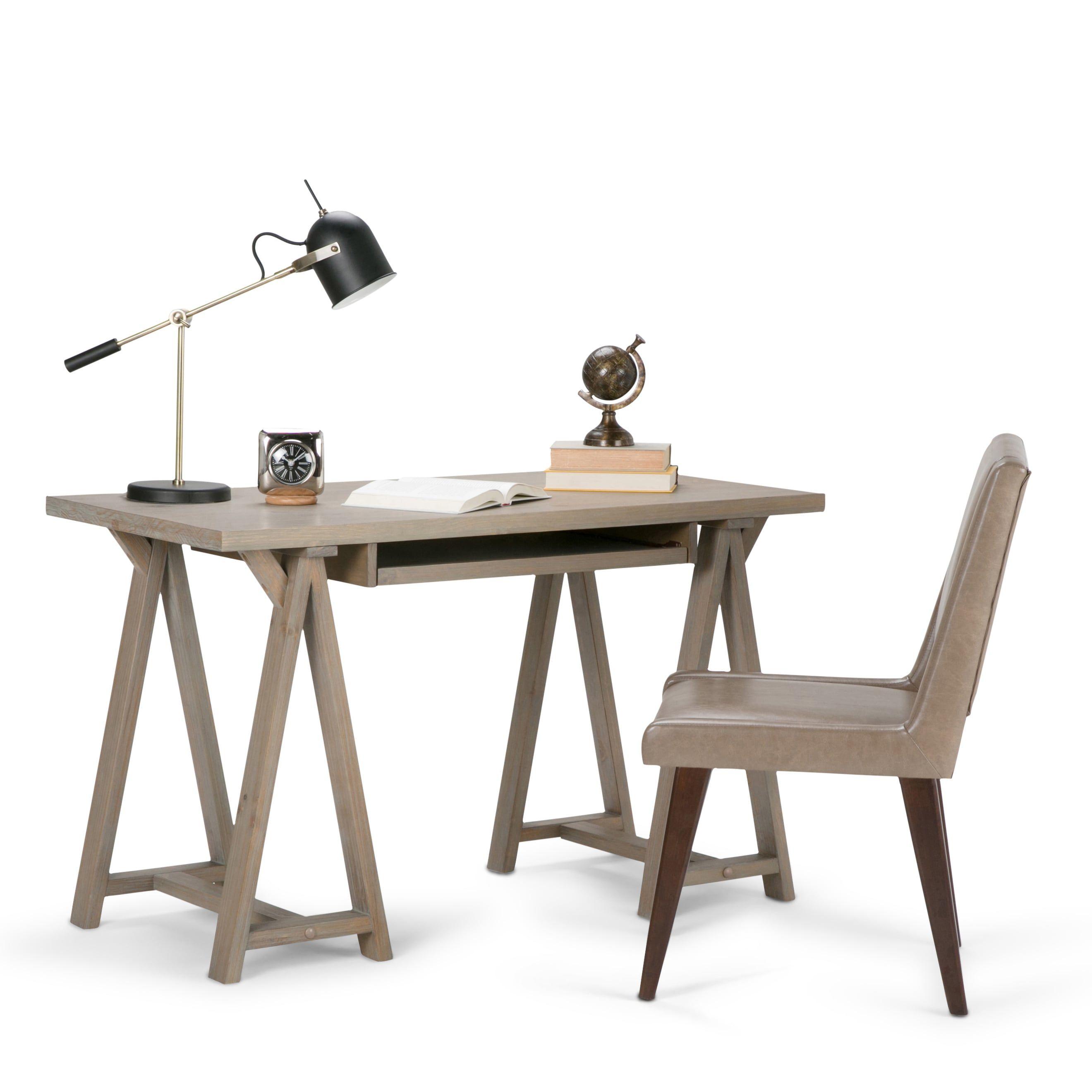 WYNDENHALL Hawkins Solid Wood Modern Industrial 50 inch ...