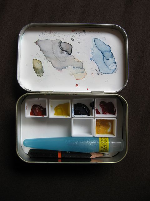 Altoids Paint Box Watercolor Kit Art Case Painted Boxes