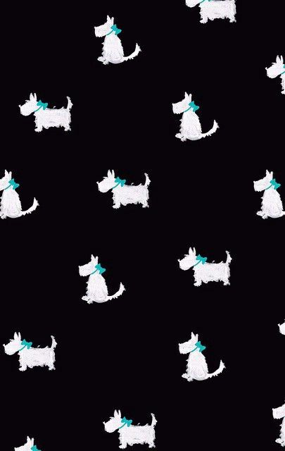 White Scottie Dog Dog Wallpaper Scottie Dog Flowery Wallpaper