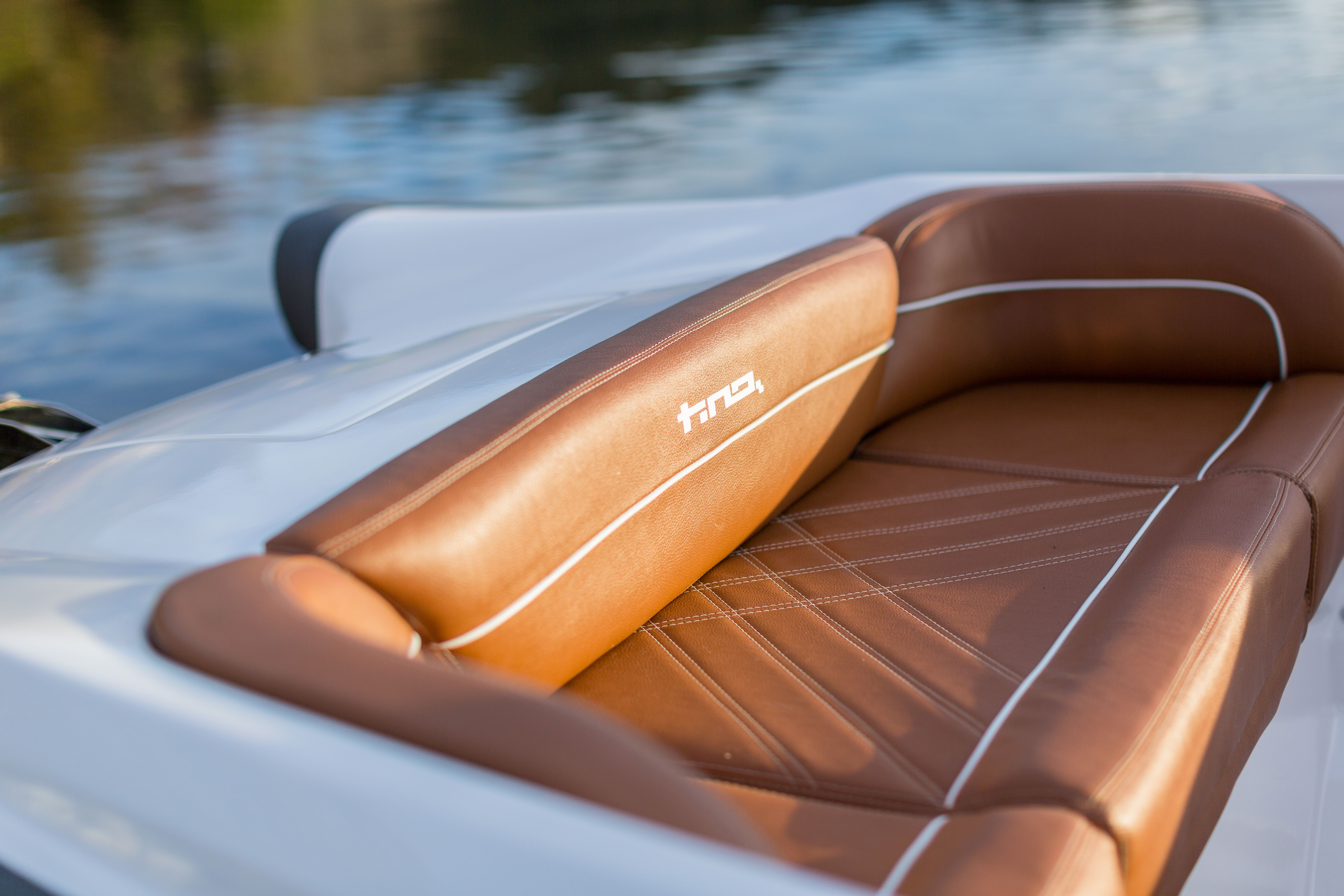 This Fantastic Bow Seating On The Tino 570hs Made With Premium Marine Vinyl Boat Design Marine Vinyl