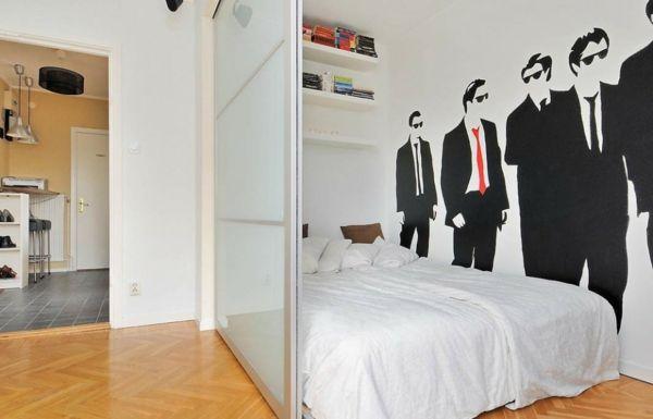 raumteiler-m-schlafzimmer- interessante wandgestaltung - 42 - raumteiler schlafzimmer ideen