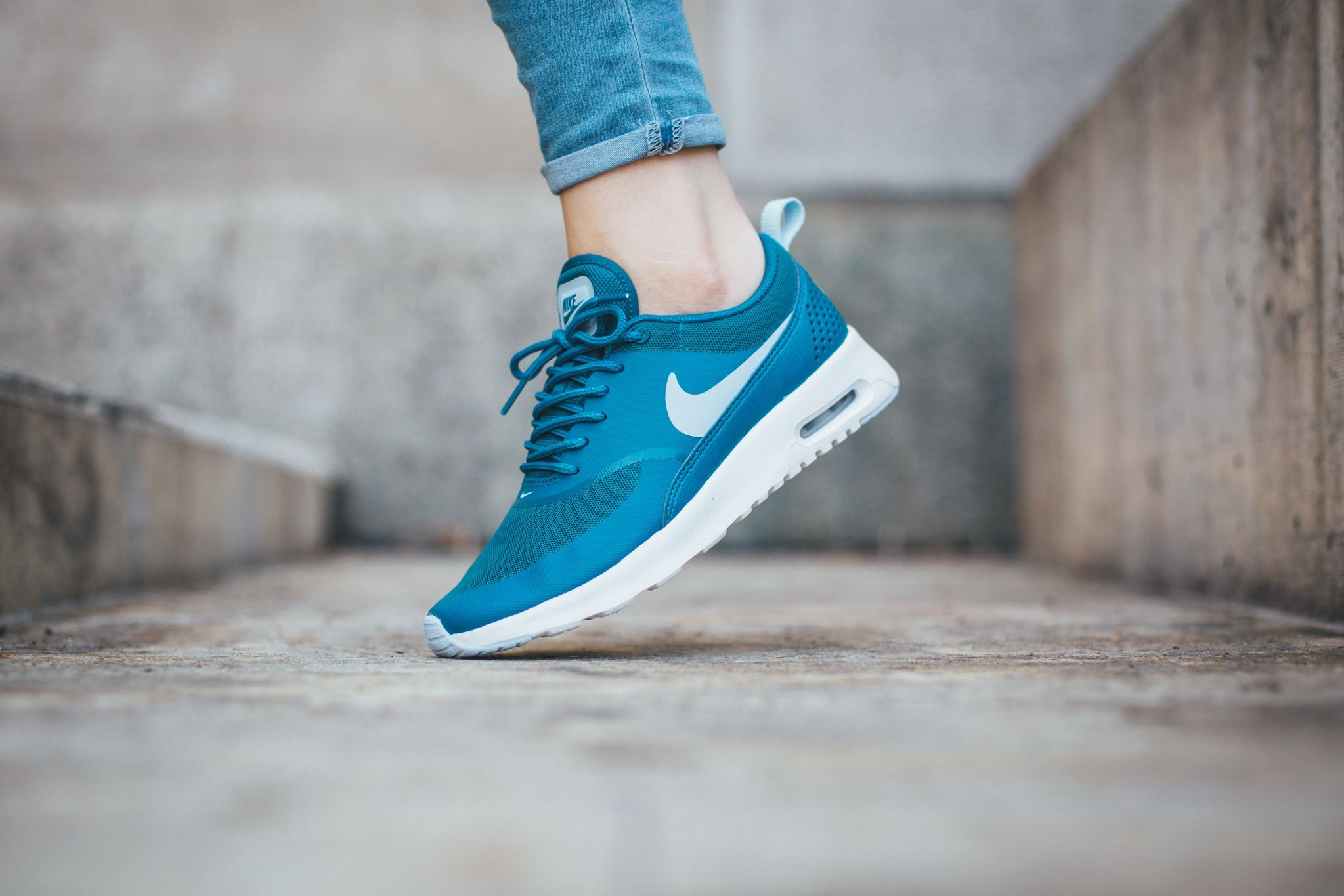 Womens Shoes Nike Air Max Thea Brigade Blue/White/Porpoise