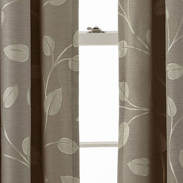 MarthaWindow Hampton Leaf Rod-Pocket/Back-Tab Curtain ...