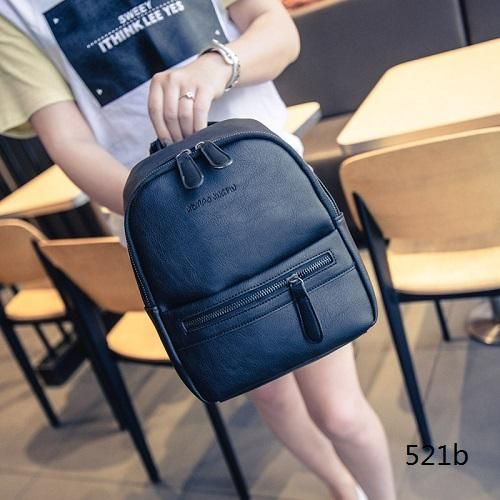 Miyahouse Korea Style Women Backpack Fashion Candy Color Mini Backpacks  Ladies Casual PU Leather Backpack Female Small Backpacks 584d908b1d