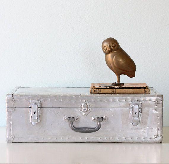 Vintage Aluminum Suitcase | Vintage and Vintage décor