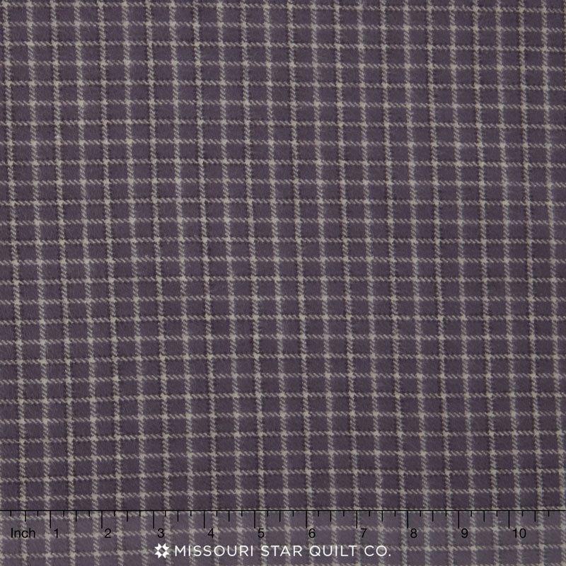 Primo Plaid - Plum Plaid Grey/Plum Flannel Yardage