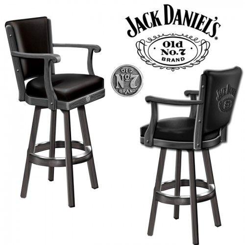 Jack Daniel's Bar Stool W/ Backrest