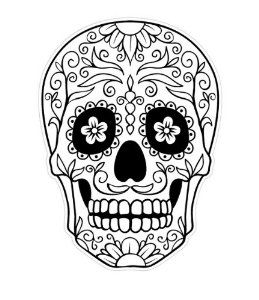 20 mexican skull black and white | Tube Tattoo | Tatto ...