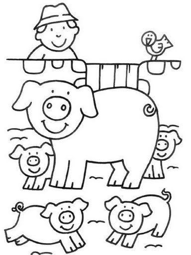 Animales De Granja Dibujos Para Colorear Con Imagenes