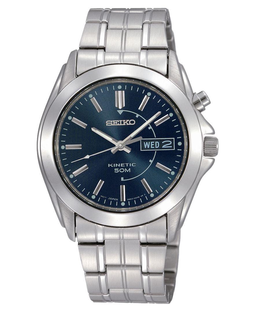 Seiko Watch, Men's Stainless Steel Bracelet 40mm SMY111