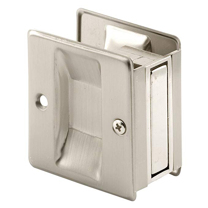 Prime Line Products N 7238 Prime Line Pocket Door Handle And Pull 2 1 2 In L X 1 3 8 In W X 2 3 4 In D In 2020 Pocket Door Handles Pocket Door Hardware Pocket Doors